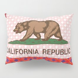 California Plaid Republic Flag Picture Pillow Sham