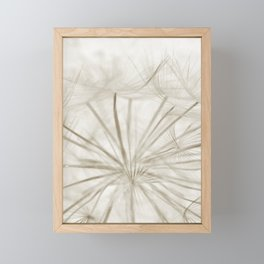 Dandelion Neutral Closeup Framed Mini Art Print