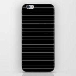 Black White Pinstripe Minimalist iPhone Skin