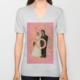 Run Bride Run Unisex V-Neck
