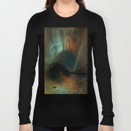 Aurora Borealis by Frederic Edwin Church Long Sleeve T-shirt