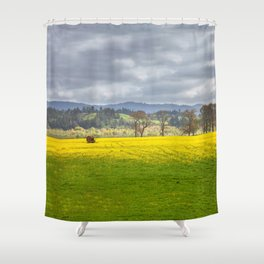 Yellow Fields Along The Eel River Shower Curtain
