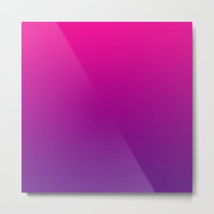Neon Pink Purple Ultra Violet Pattern Metal Print