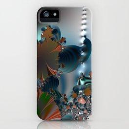 Follow me! -- Creatures in a fractal landscape iPhone Case