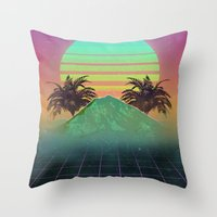 80s Throw Pillows featuring 80s love by Mikuloctopus