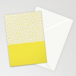 Triangles yellow Stationery Cards