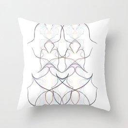 threaded harmony Throw Pillow
