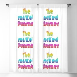 The masked Summer - PoP - Typo - 500 Days - of the Pandemic - #4 Blackout Curtain