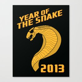 Year of the Escaped Snake Canvas Print