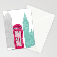 London Red Telephone Box (pink) Stationery Cards