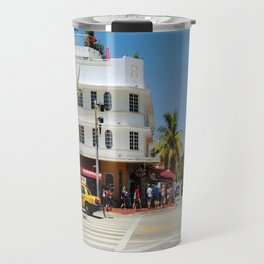 South Beach Miami Street Travel Mug