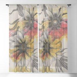 Floral Series: Gazania Rigens Sheer Curtain
