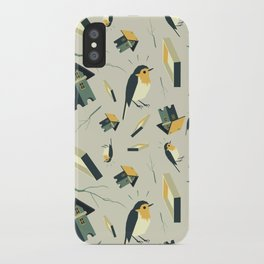 Flying Birdhouse (Pattern) iPhone Case