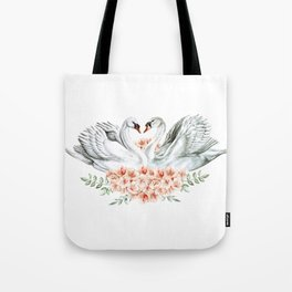 Swan Love Tote Bag