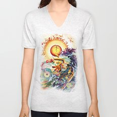 Japan Earthquake 11-03-2011 Unisex V-Neck