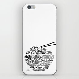 Hand Lettered Taiwanese Food Bowl iPhone Skin