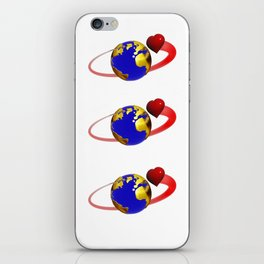 love is all around, #hatetolove iPhone Skin