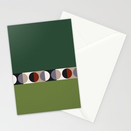 malevich moon || pine green Stationery Cards