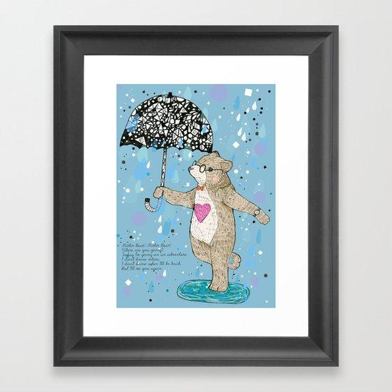 Mister Bear Framed Art Print