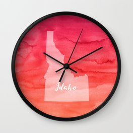 Sweet Home Idaho Wall Clock