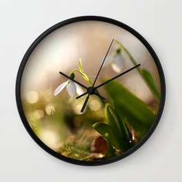You And I Two Snowdrop Flowers #decor #society6 Wall Clock