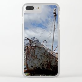 Whaling Ship Clear iPhone Case
