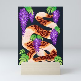 Wisteria ball python Mini Art Print