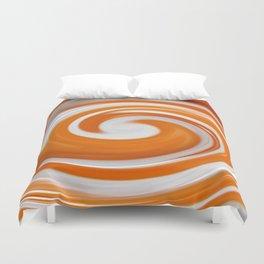 Lollipop Swirls - Orange Duvet Cover