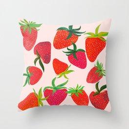 Strawberry Harvest Throw Pillow