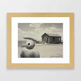 abandoned dust house with ojolo Framed Art Print