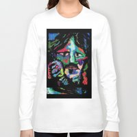 dave grohl Long Sleeve T-shirts featuring Self portrait as Dave Grohl by brett66