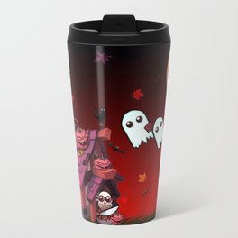 Halloween Pumpkin House Travel Mug