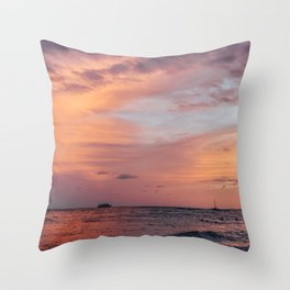 Cotten Candy Sunset Throw Pillow