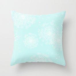 DANDY SNOWFLAKE AQUA Throw Pillow