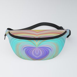 Only love will save this world, romantic rainbow print Fanny Pack