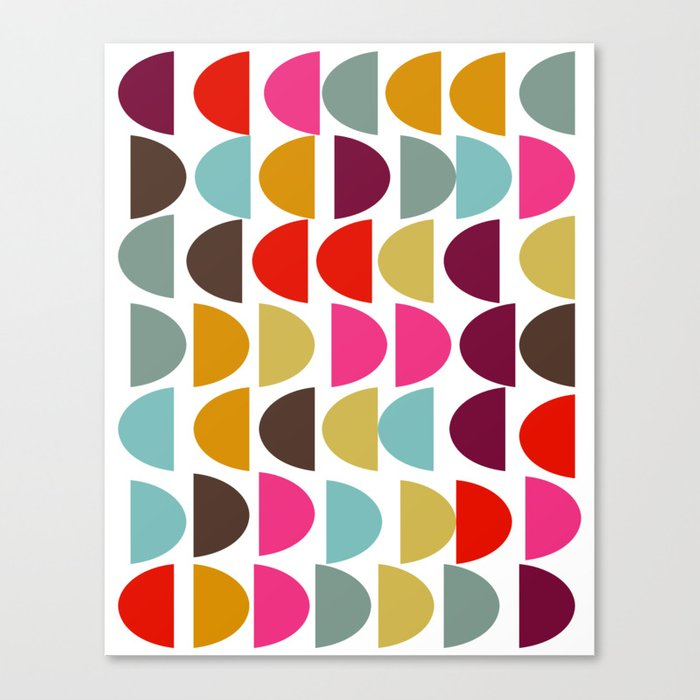 Geometric in Bright Fall Colors Canvas Print