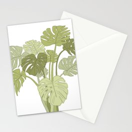 My Monstera Greens Stationery Cards
