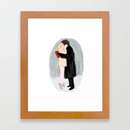 Bridget Jones Kiss Framed Art Print