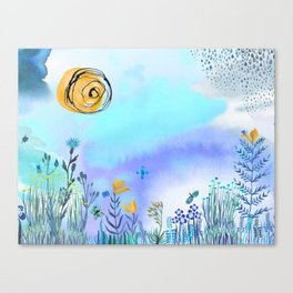 Blue Garden II Canvas Print