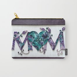 Purple MOM Heart Carry-All Pouch