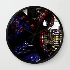 Spiderman in London Close up Wall Clock