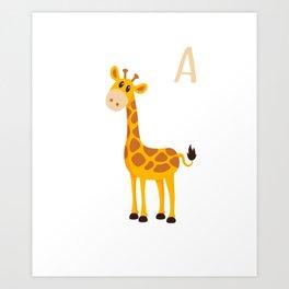 I'm A Giraffe Cute Baby Giraffe Animal Art Print