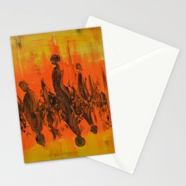 Abstract People Sunset Stationery Cards