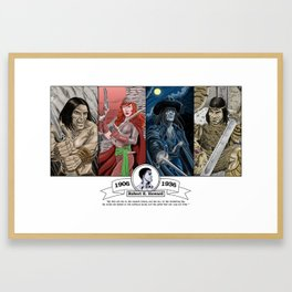 Robert E. Howard Tribute Framed Art Print