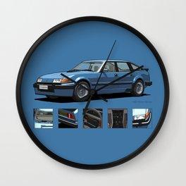 Rover Vitesse 1986 Moonraker Blue Wall Clock