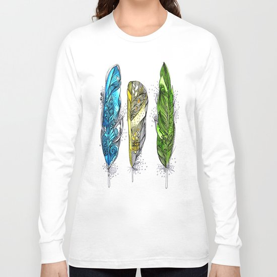 Dream Feathers Long Sleeve T-shirt
