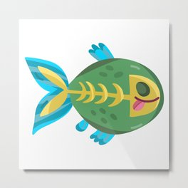 Cute Piranha Metal Print