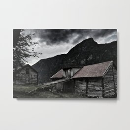 House Settlement From The 1700 Metal Print