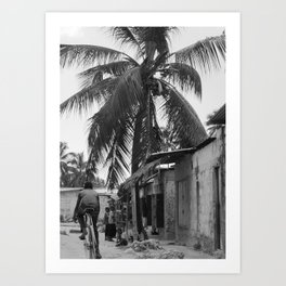 Boy with the Bike. Art Print