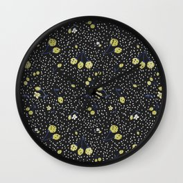Charcoal Strawberry Wall Clock